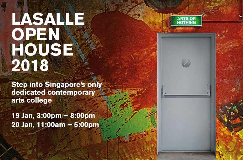 LASALLE College of The Arts เชิญร่วมงาน OPEN HOUSE 2018!